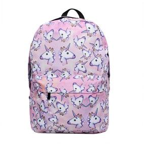 Bonamana Pink Unicorn Rainbow Bag Mochila Fantasy Mochila