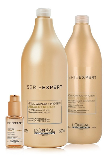 Pack Loreal Absolut Repair Gold: Shampoo + Acond.+ Sérum