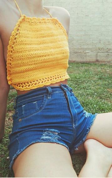 Top A Crochet De Hilo, Artesanal
