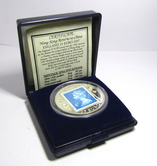 Inglaterra Moneda 25 Euros 1997 Plata Proof