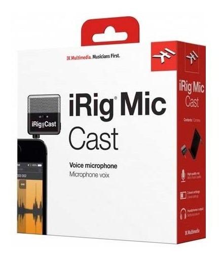 Microfone Condensador Para Smarphones Irig Mic Cast Ik