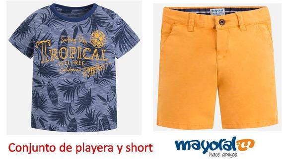 Conjunto De Playera Y Short Mayoral Est. 3087 # 7 B