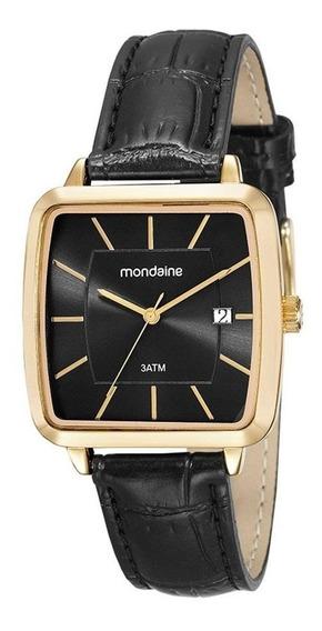 Relógio Mondaine Feminino Dourado Couro 53573gpmvdh1