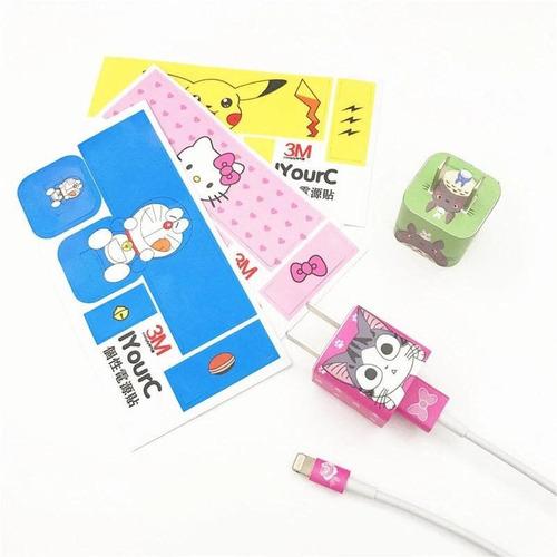 12 Unidades Sticker Perzonalizar Cable Cargador