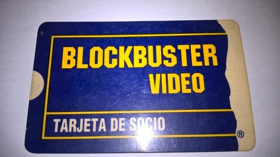 Tarjeta Blockbuster Video Tarjeta De Socio