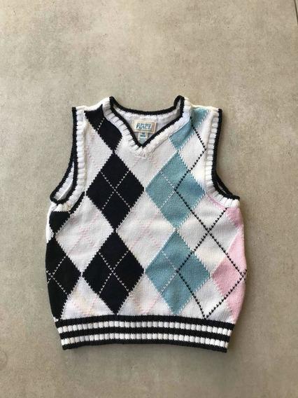 139a. Sweater Sin Mangas Importado Eeuu 18 Meses Bebé Niño