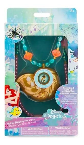 Ariel Pequena Sereia Disney Colar Ascende Canta Grava Sons