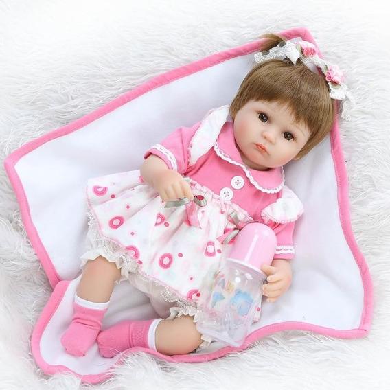 Bebê Reborn Menina Boneca Realista Pronta Entrega Barato 04