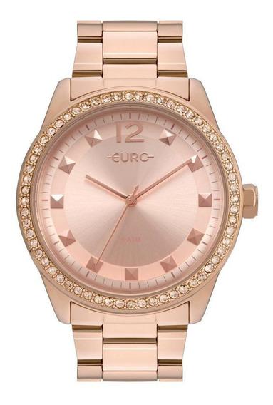 Relógio Feminino Euro Maxi Trendy Eu2035yrm/4j 43mm Aço Rose