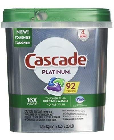 Detergente Lavavajillas Cascade Platinum 92 Pzas Dawn 16x