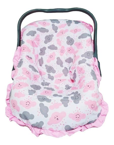 Capa Bebê Conforto Menina Nuvem Rosa Tamanho Único