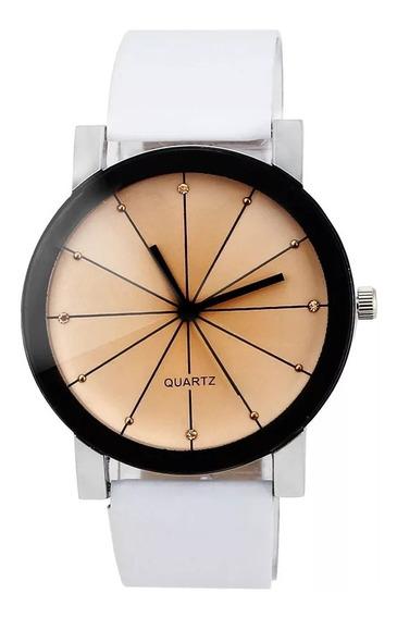 Relógio Branco Feminino / Masculino - Quartzo