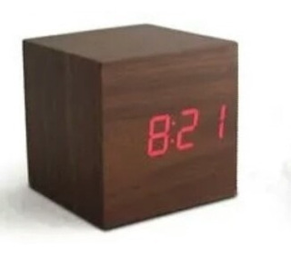 Reloj Cubo Madera