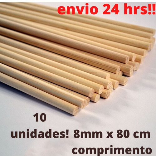 Varetas 8mm P/ Flechas ,mandalas, Artesanato, Escolares Etc