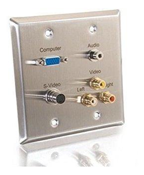 Imagen 1 de 1 de C2g / Cables Para Ir 40968 Placa De Pared De Video Compuesto