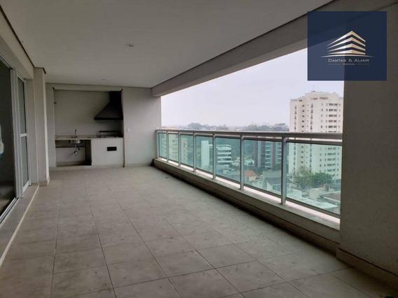 Apartamento No Condomínio Helbor Classic, 197m², 4 Dormitórios, 2 Suítes, Vista Bosque Maia. - Ap0789