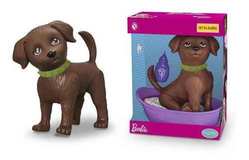 Cachorro Pet Shop Boneca Barbie Dj Faz Xixi + 6 Acessórios