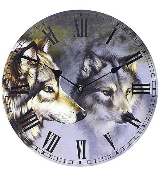 Reloj De Pared Naturaleza Themed Camada De Lobos