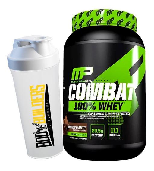 100% Whey Combat 907g + Brinde - Muscle Pharm Mp