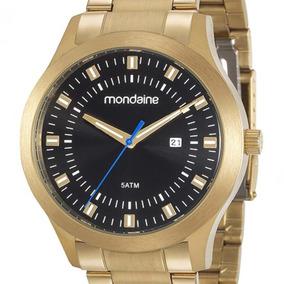 Relógio Mondaine Masculino 99182gpmvda1 Dourado C/ Nota