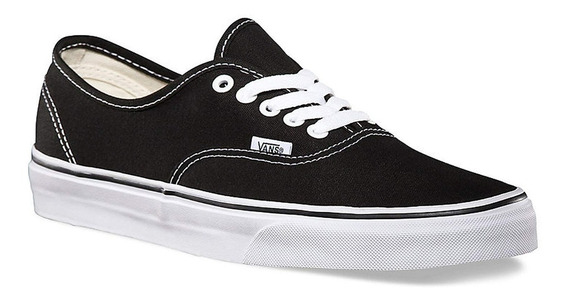 Zapatillas Vans Authentic Negro Black Tela 100% Original