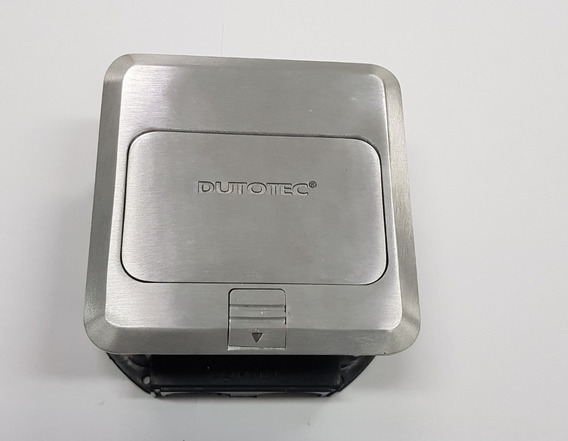 Caixa De Piso 3bl Quadrada Tomada Cr4 Dutotec Vazia