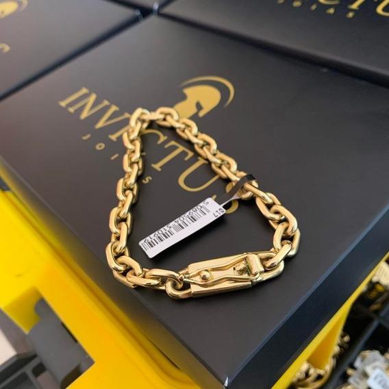 Pulseira Cadeado Cartier 8mm Banhado A Ouro 18k