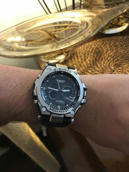 Relógio Casio G-shock Metal, Prata/preto!! Novidade !