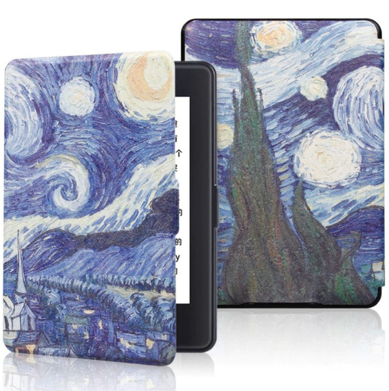 Capa Novo Kindle Paperwhite 4 Van Gogh + Caneta