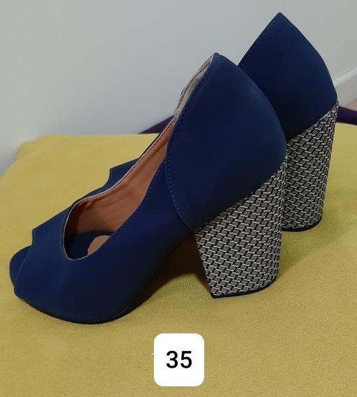 Sapato Salto Quadrado