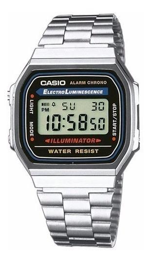 Relógio Casio Unissex Retro A168wa-1wdf - ( Nota Fiscal )