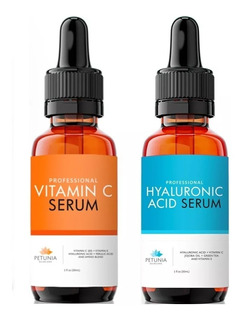 Kit Serum Vitamina C Y Acido Hialuronico Importado Oferta