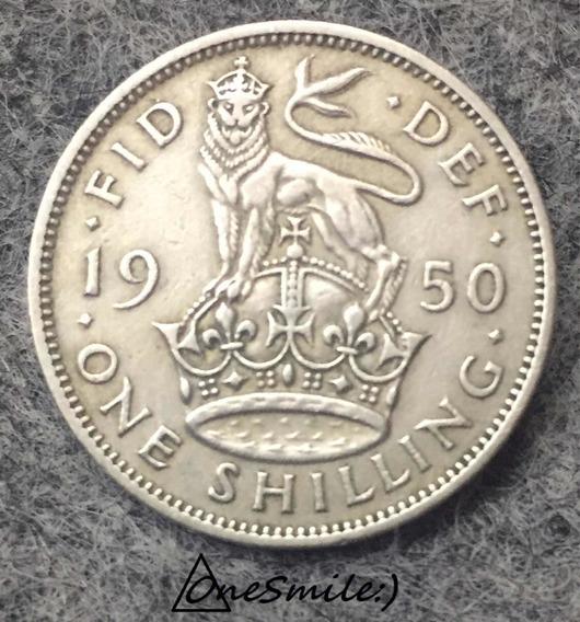 Onesmile:) Moneda De One Shilling 1950