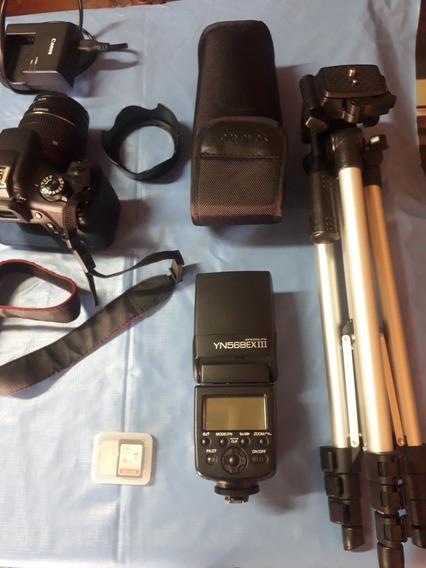 Canon T6, Com Flash, Bolsa, Cartão Etc.