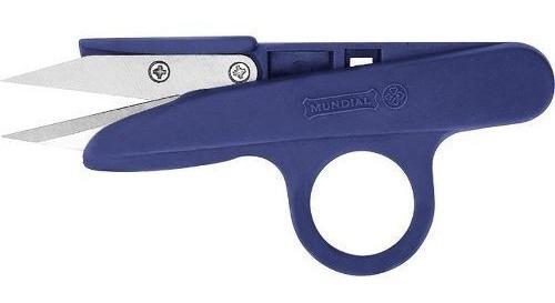 Tesoura Arremate Tecelão  Azul  Mundial 161n-4 1/2