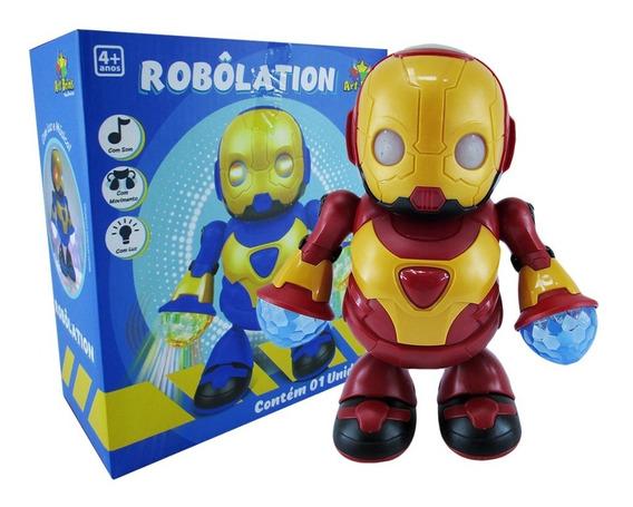 Brinquedo Homem De Ferro Roboletion - Som Luzes E Movimento