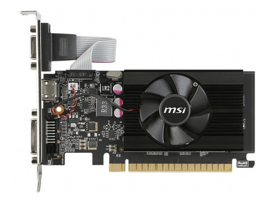 Placa de video MSI GeForce 700 Series GT 710 2GD3 LP 2GB