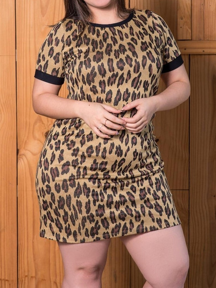 Vestido Plus Size Animal Print Belle John Plus My