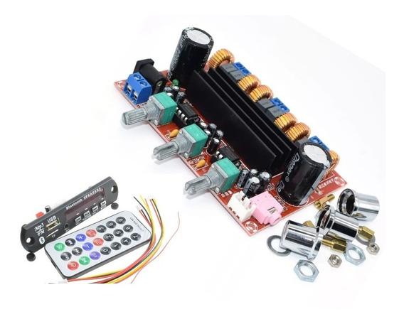 Placa Amplificador200w/100+2×50w +painel Usb Bluetooth Fm