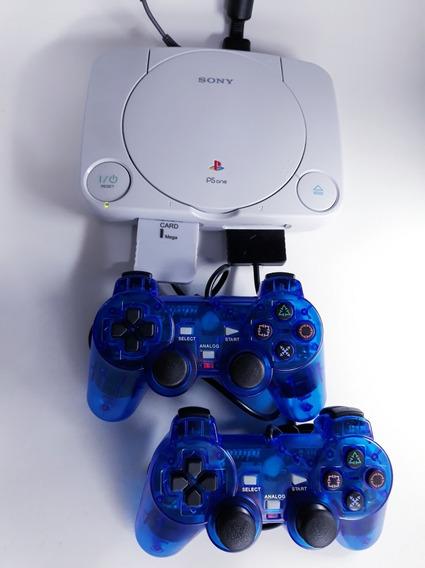 Playstation 1 Psone Slim + Controles + Jogos + Cabos