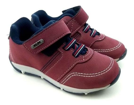 Sapato Para Menino Outdoor Klin Com Velcro E Cadarço
