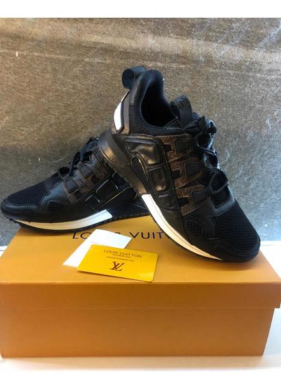 Tenis Louis Vuitton Negros Sneakers Runaway Brown Dama
