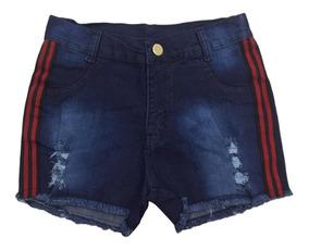 03 Short Bermuda Jeans Feminino Cintura Alta Roupas Atacado