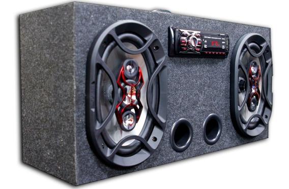 Caixa Amplificada Bluetooth Ativa 6x9 Bravox + Taramps Tl500