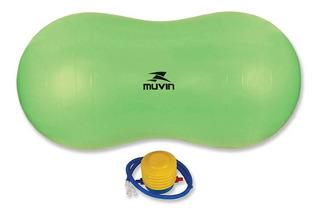 Bola De Pilates Peanut 90cm X 45cm Blg-500 - Verde - Muvi