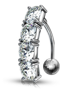 Piercing Invertido Strass De Ombligo - Piercing Argentina ®