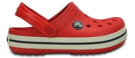 Zapato Crocs Unisex Infantil Crocband Rojo/blanco