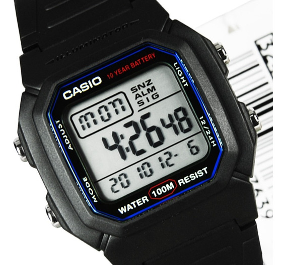 Casio W-800h Relógio Retrô-vintage Nf Original C/caixa W800
