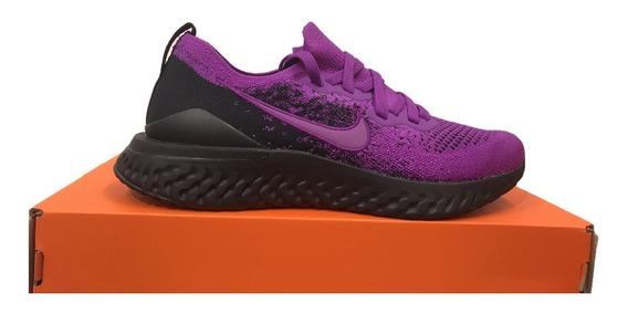 Tênis Nike Epic React Flyknit 2 Roxo E Preto Original