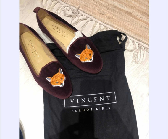 Vincent Slippers / Mocasines Mujer Talle 35 Cuero